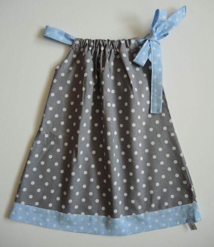 Kleid hellblau grau