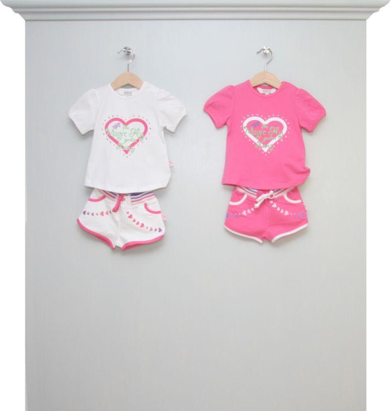 T Shirt Und Short Magic Fly Weiss Und Pink