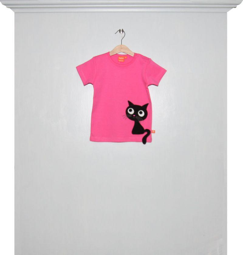 T Shirt Pink Mit Katze