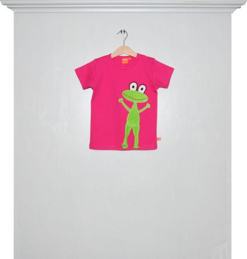 T Shirts Kurzarm Kirschrot Mit Frosch