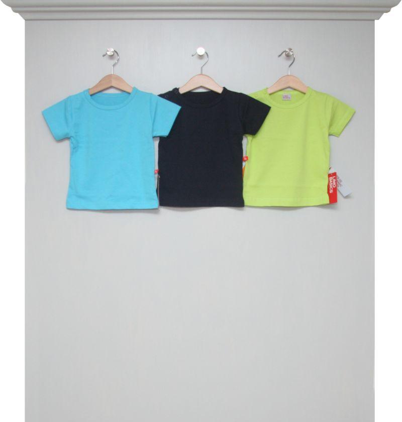 T Shirts Aqua Navy Und Lime