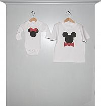 Body Minnie und T-Shirt Micky