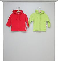 Sweatshirt-Kapuzenjacken red und lime