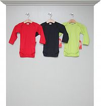 Bodys langarm red, navy und lime