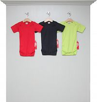 Bodys kurzarm red, navy und lime